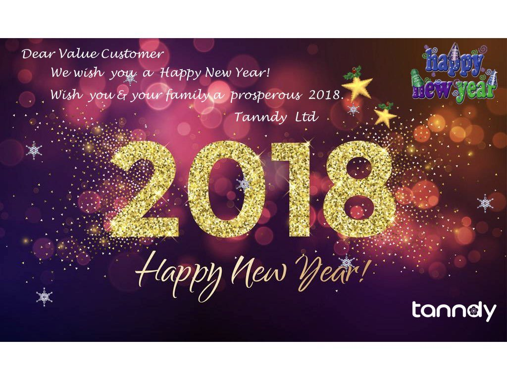 tanndy ltd wish you happy new year 2018