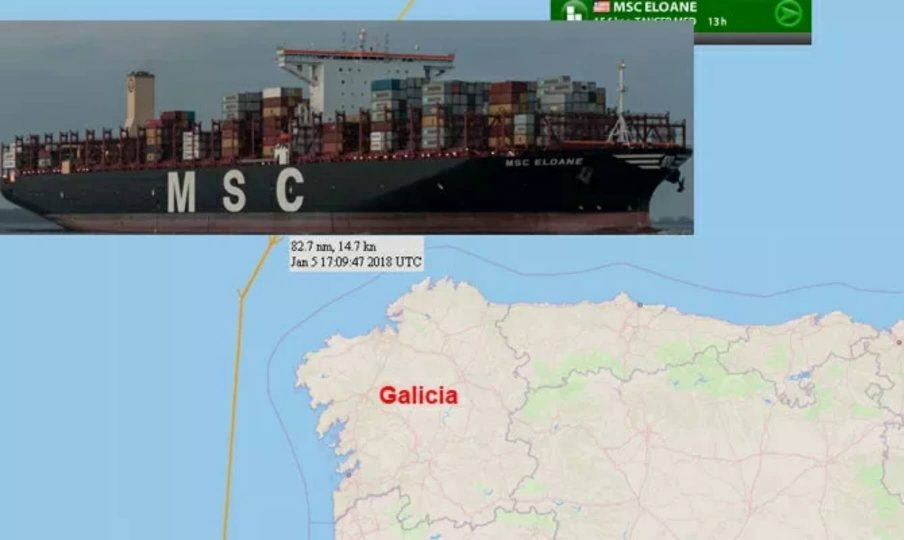MSC 19472Teu lost 40 container in Span
