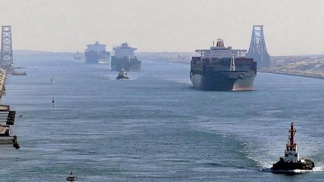 Multi-Vessel Pileup in Suez Canal