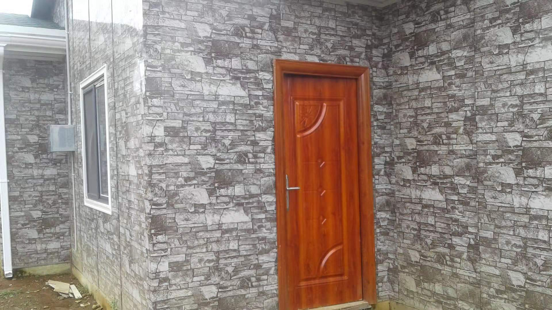 Outdoor wall tiles of the dormitory