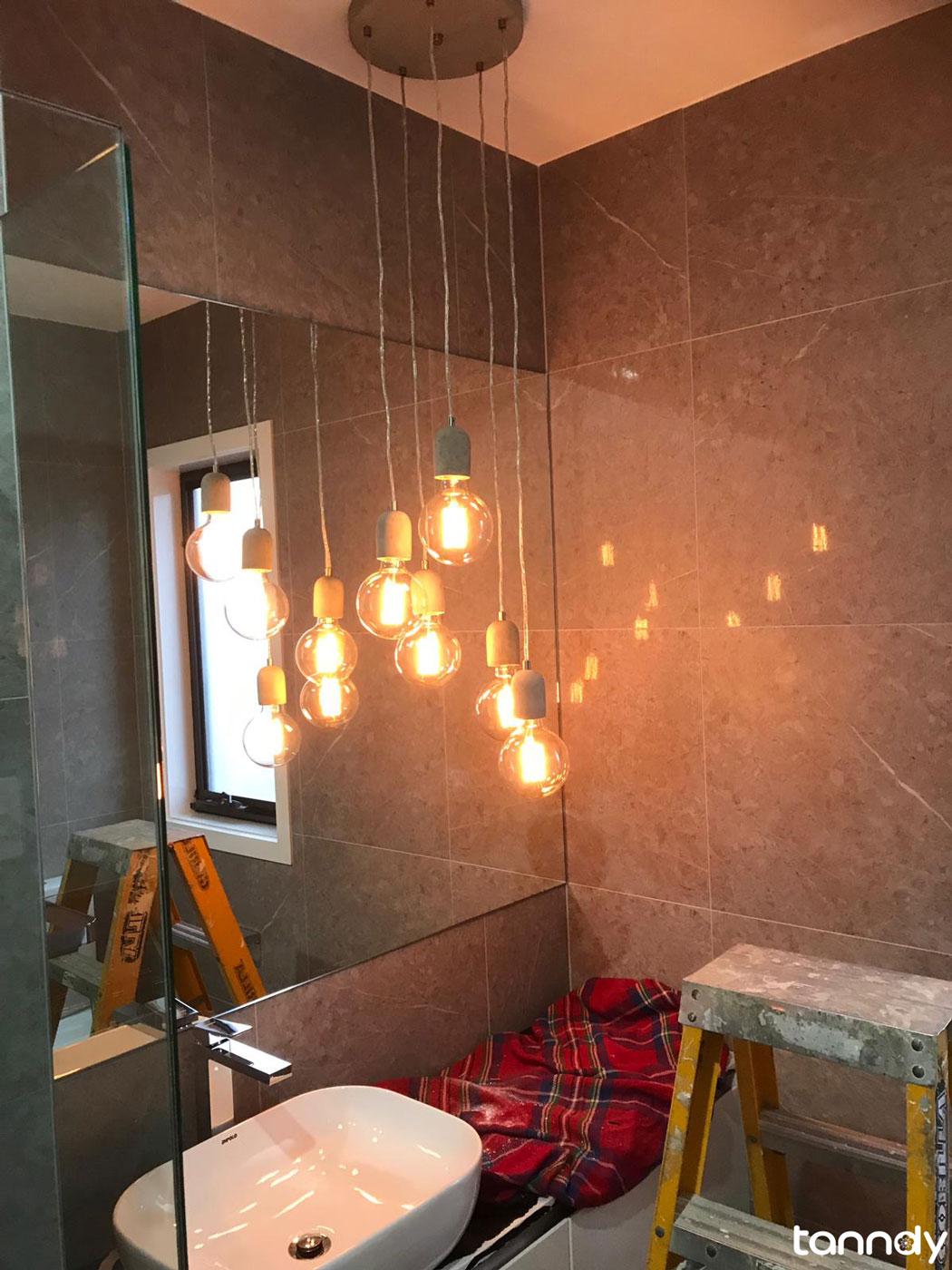lighting in the bathroom