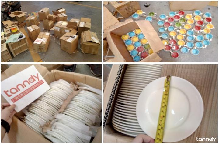 inspect ceramic plate