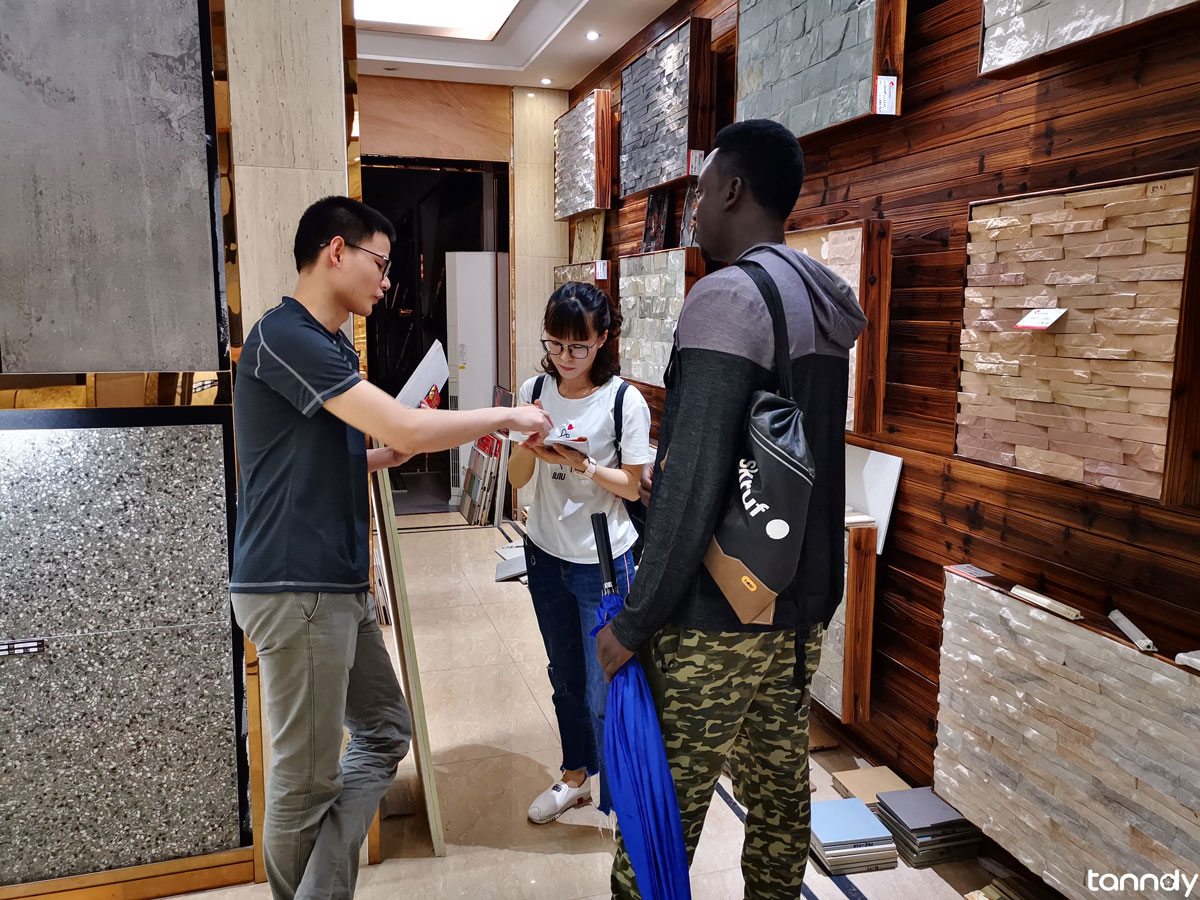Buying tiles market in China