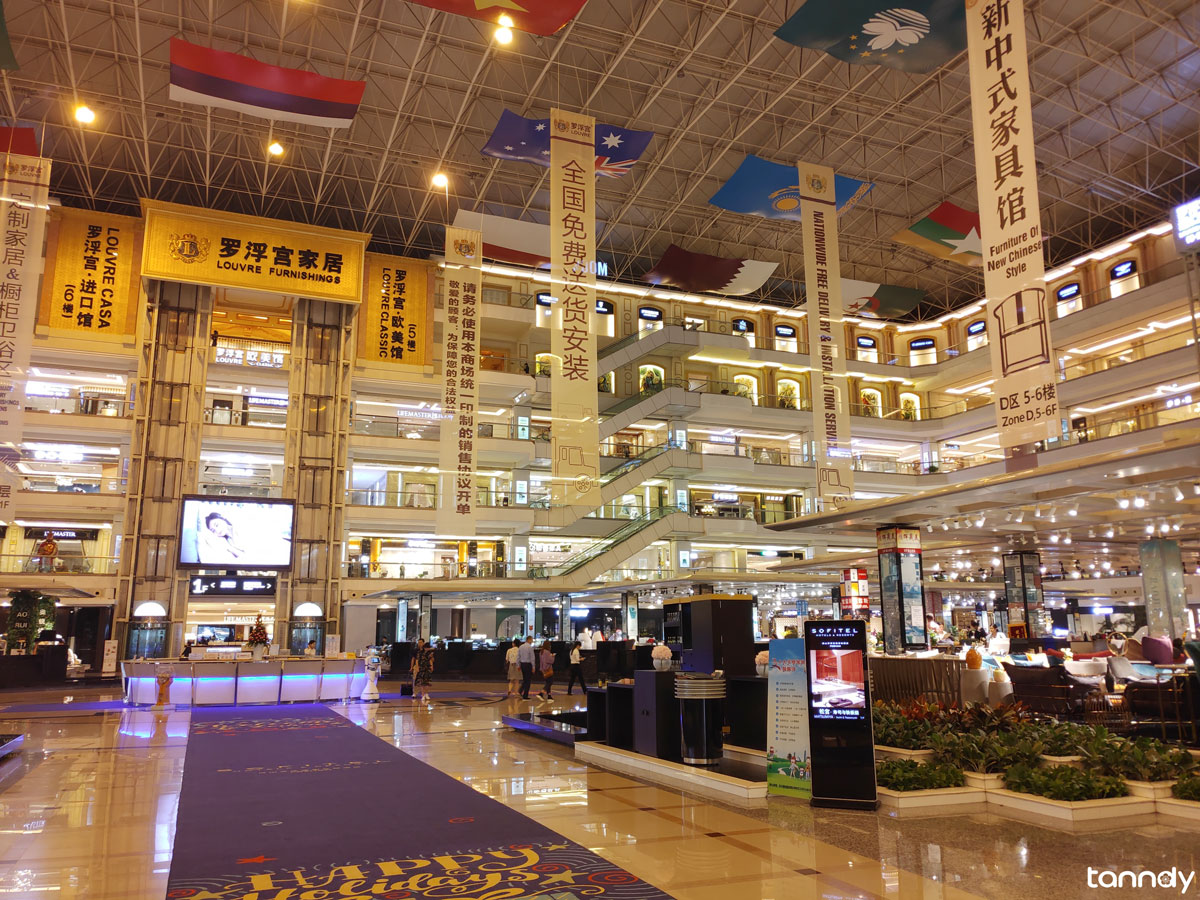 Inside of Foshan Louvre furniture market