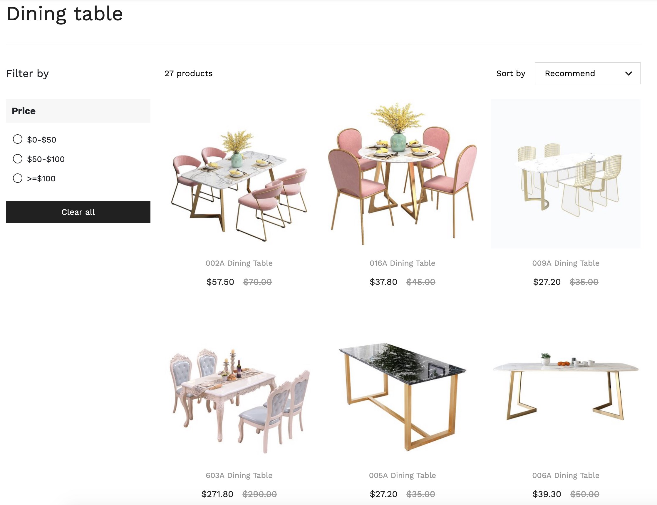 Dining talbe online shopping