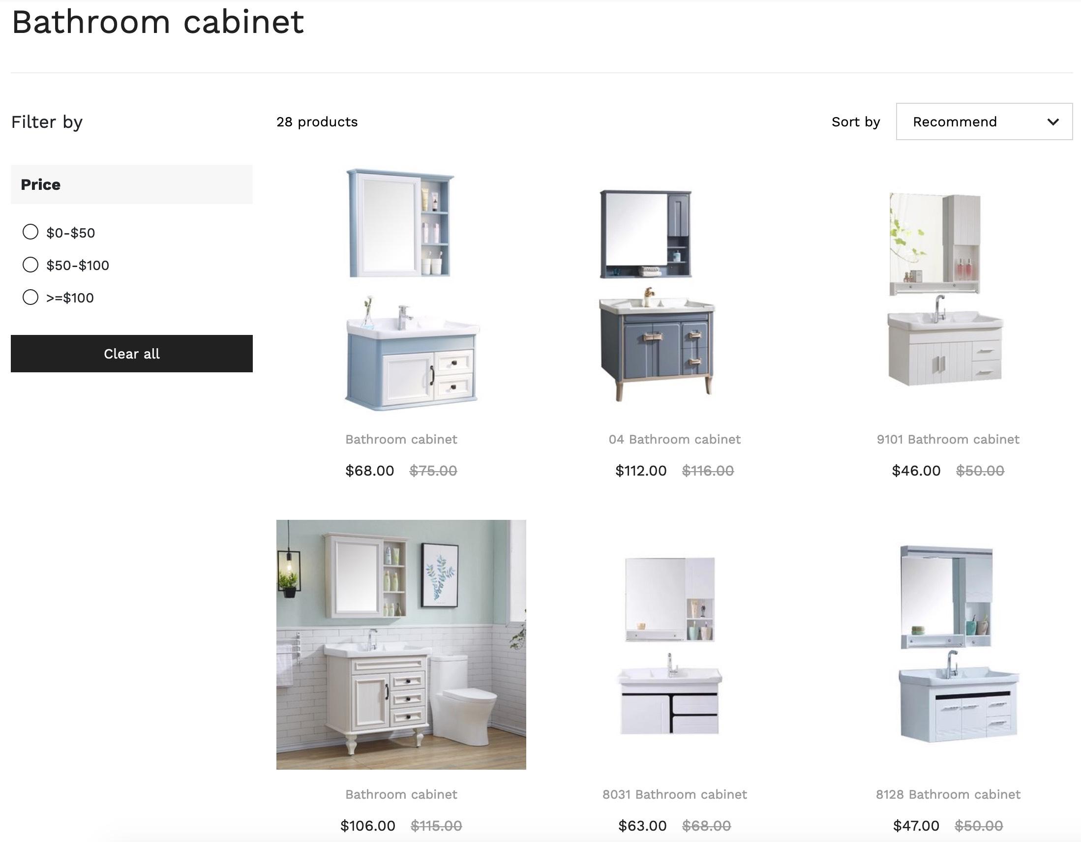 bathroom cabinet online shopping