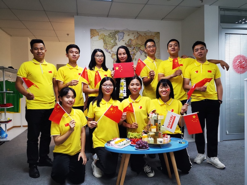 Our team is celebrating the 70th Anniversary of China's National Day 1