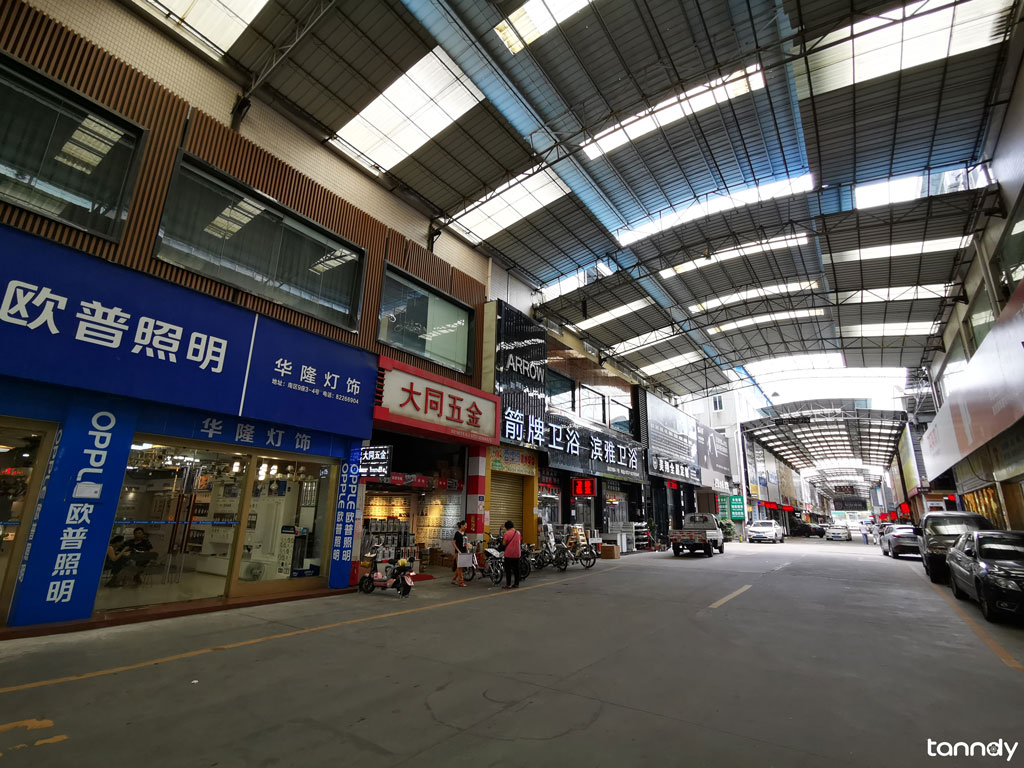 street in huayi building materials market
