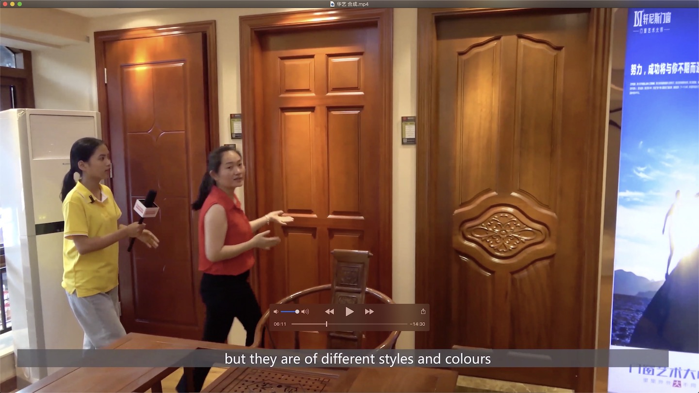 Different styles & colors wood door