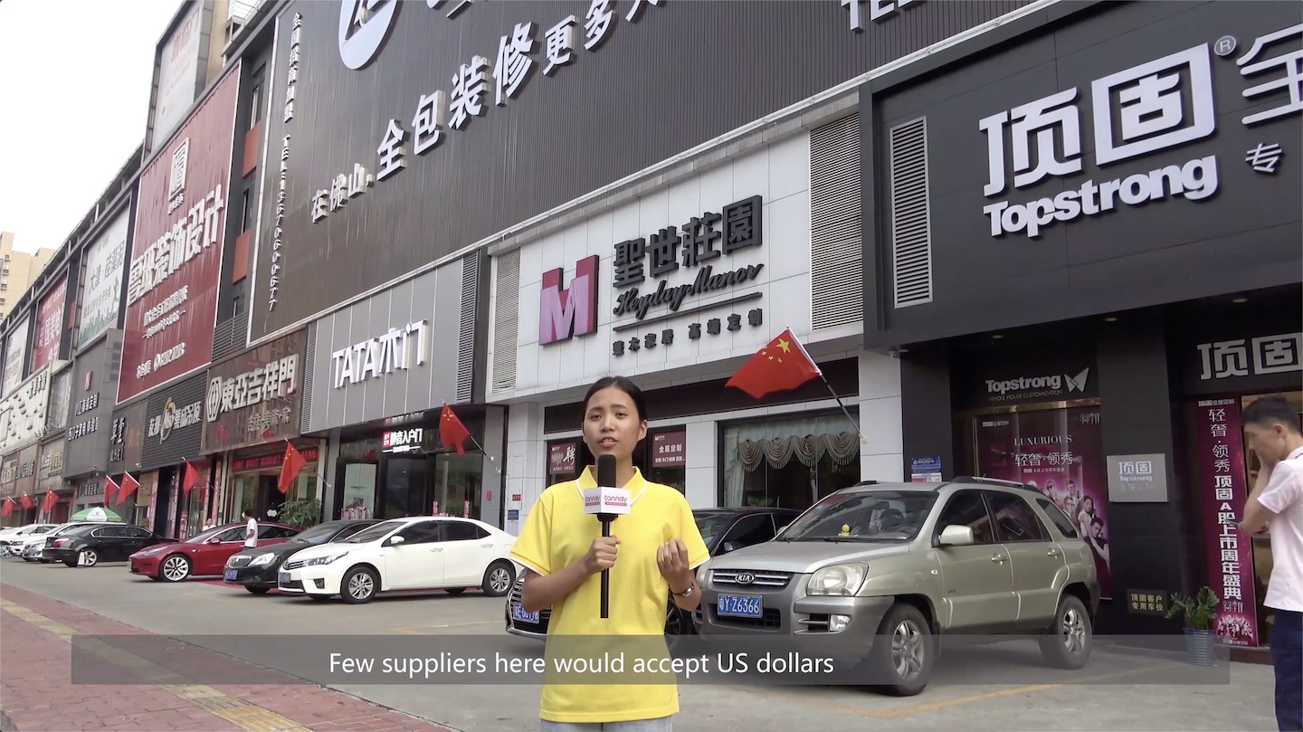 Few suppliers accept US dollars in the market