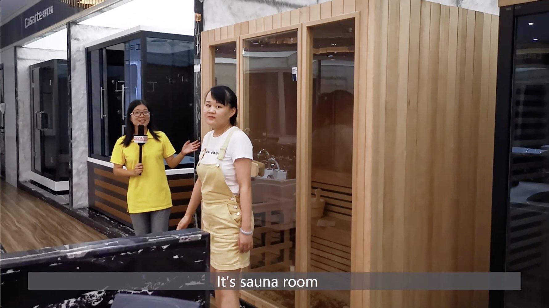 check sauna room in sanitary market